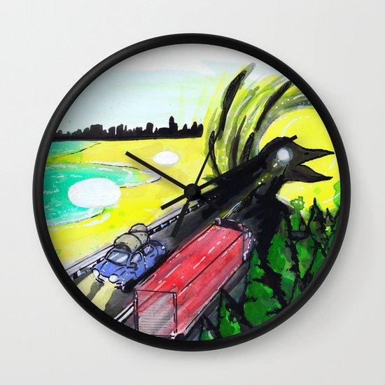 """""""Summer Tours"""" by Cap Blackard Wall Clock"""