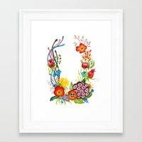 Floral Poster Framed Art Print
