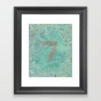 LUCKY 7 Framed Art Print