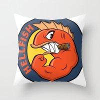 The Flying Hellfish Throw Pillow