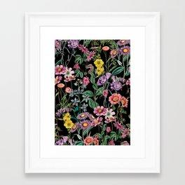 Framed Art Print - NIGHT FOREST XIV - Burcu Korkmazyurek