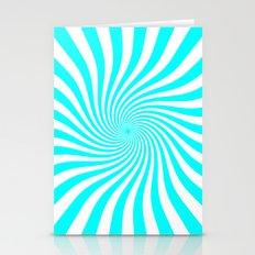 Swirl (Aqua Cyan/White) Stationery Cards