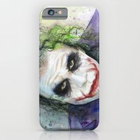 iPhone & iPod Case featuring The Joker Watercolor by Olechka