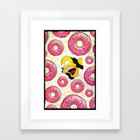 We Love Donuts - for iphone Framed Art Print