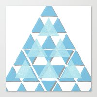 Blue Sky Mountain Canvas Print