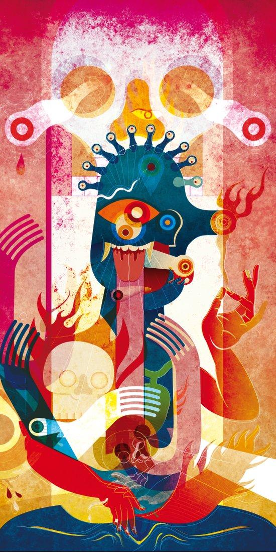 Kollaps, the print Art Print