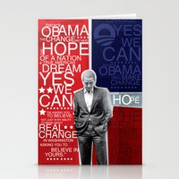 obama Stationery Cards featuring Barack Obama by kaseysmithcs