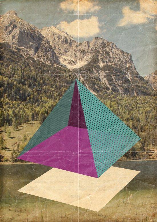 piramidi&nuvole Canvas Print