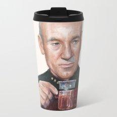 Tea. Earl Grey. Hot. Captain Picard Star Trek   Watercolor Travel Mug