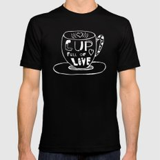 Cup Full Of Love Chalkboard Black SMALL Mens Fitted Tee