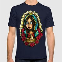 Lady Of Guadalupe (Virge… Mens Fitted Tee Navy SMALL