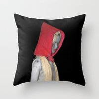 Cappuccetto Rosso Throw Pillow