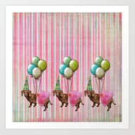 Art Print featuring Party Dog 3 by Durin Eberhart