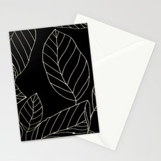 Black Leaves Stationery Cards
