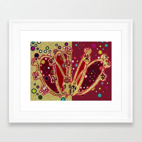 5 Golden Rings - 12 Days of Christmas Series Framed Art Print
