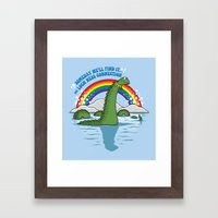 The Lochness Connection Framed Art Print