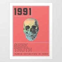HUMAN EXTINCTION Art Print