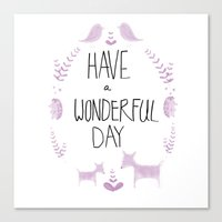 Wonderful Day Canvas Print