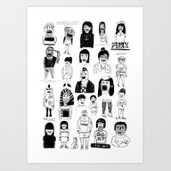 Art Print featuring PEEPZ by WASTED RITA