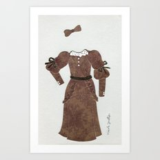 Anne of Green Gables Outfit, 2 Art Print