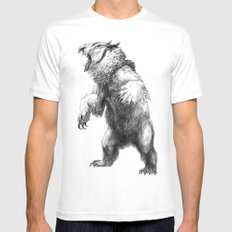 Owlbear Mens Fitted Tee SMALL White