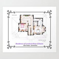 House of Lorelai & Rory Gilmore - First Floor Art Print