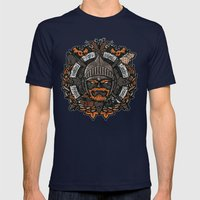 GNG CREST Mens Fitted Tee Navy SMALL