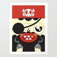 Pirate In Love Art Print