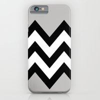 iPhone & iPod Case featuring GRAY COLORBLOCK CHEVRON by natalie sales