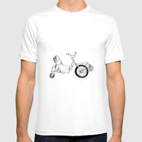 Spin Bike Mens Fitted Tee White SMALL