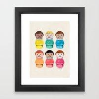 Little Girls Framed Art Print