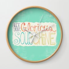 Let Your Glorious Soul Shine Wall Clock