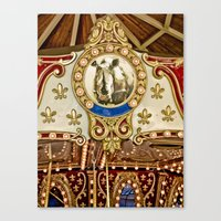 Rhinocerous Carousel At … Canvas Print