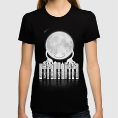 City Tunes Womens Fitted Tee Black SMALL