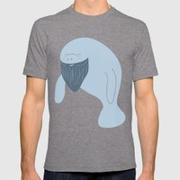 Silly Bearded Manatee Mens Fitted Tee Tri-Grey SMALL