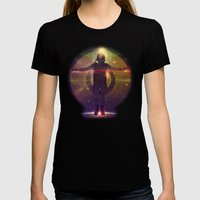 Space Oddity Womens Fitted Tee Black SMALL