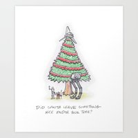 Did Santa Leave Somethin… Art Print