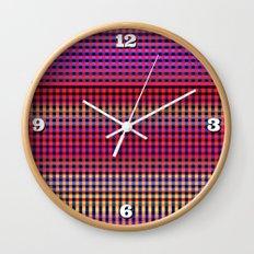 Fiesta Checks Wall Clock