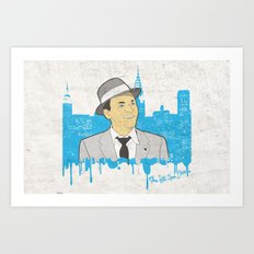 These Litte Town Blues Art Print