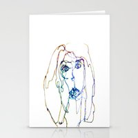 Conflicted Face Stationery Cards