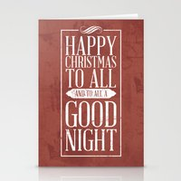 Happy Christmas Stationery Cards
