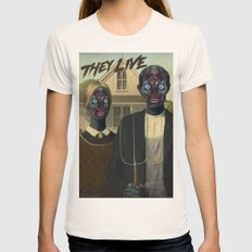 They live (1988) Womens Fitted Tee Natural SMALL