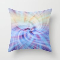 Abstract Twirl Throw Pillow