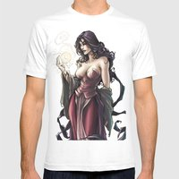MORGANA Mens Fitted Tee White SMALL