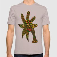 Finger Palm Tree Mens Fitted Tee Cinder SMALL