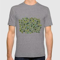 Leaf Green Mens Fitted Tee Athletic Grey SMALL