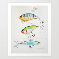 Fishing is Fly No2 Art Print