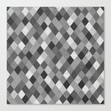 Black and White Harlequin Canvas Print
