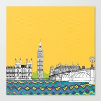 London Town Pop Art With… Canvas Print