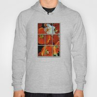Orange And White Flowers Hoody